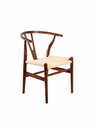 Silla Copenhague Walnut, Tejido Natural