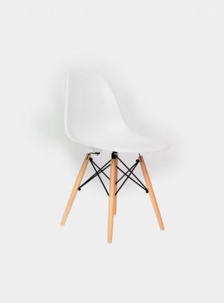 椅子 柏林  没有扶手 木腿 白色