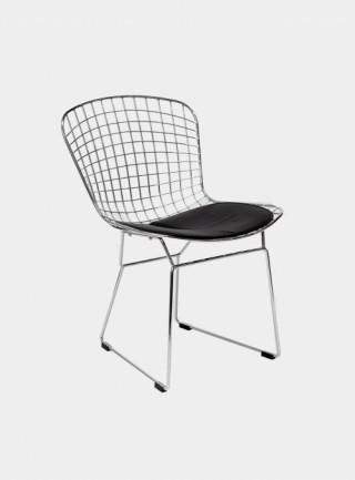 椅子 贝托亚 镀铬色椅子垫 黑色