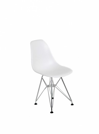 Silla Berlín Kids Sin Descansabrazos Color Blanco Pata Metal